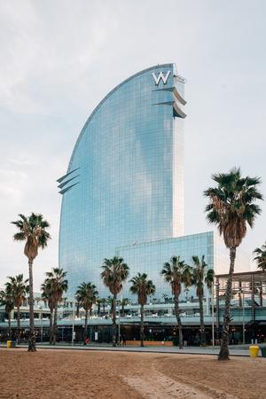 The W Hotel at La Barceloneta, in Barcelona, Spain