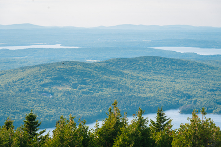 View from Cadillac Mountain, in Acadia National Park, Maine