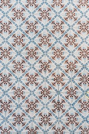 Portuguese azulejo tile pattern in Lisbon, Portugal Stock Photo