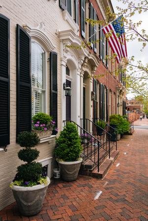 Row houses in Old Town, Alexandria, Virginia