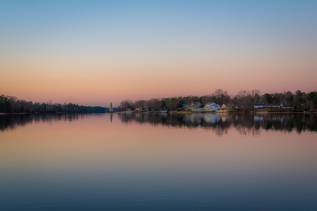 Lake Lenape at sunset, in Mays Landing, New Jersey