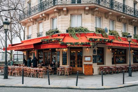 A brasserie on ÃŽle Saint-Louis, in Paris, France