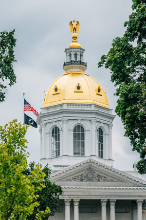 The New Hampshire State House in Concord, New Hampshire 免版税图像