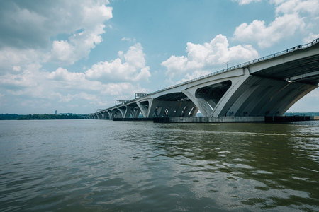 The Woodrow Wilson Bridge, over the Potomac River in Alexandria, Virginia