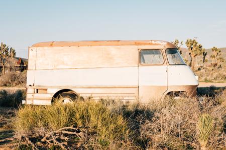 Abandoned van in Pioneertown, California