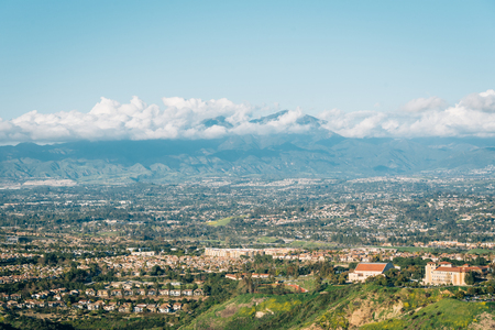 View of Orange County and mountains from Top of the World in Laguna Beach, California