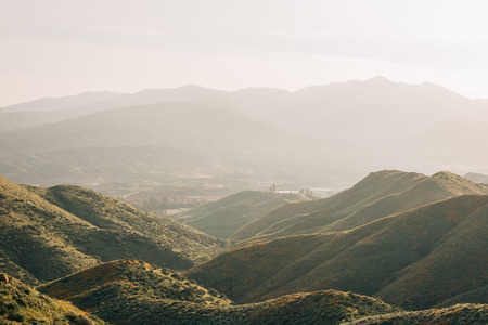 View of mountains from the Walker Canyon Trail in Lake Elsinore, California Reklamní fotografie
