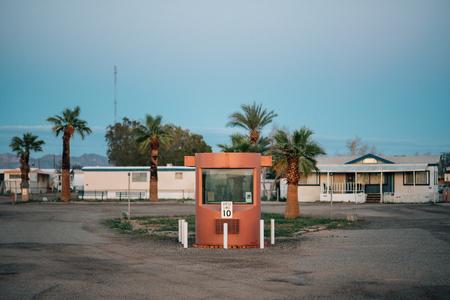 Entrance to an RV Park in Niland, California Stock Photo