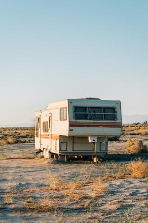 Abandoned camper in Salton City, California