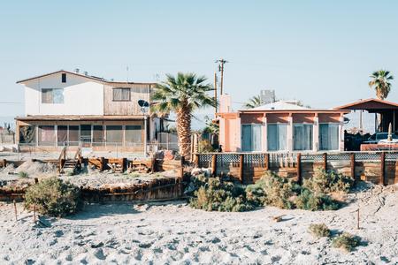 Houses in Salton Sea Beach, California Stock Photo