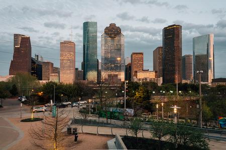 View of the Houston skyline from Buffalo Bayou Park, in Houston, Texas