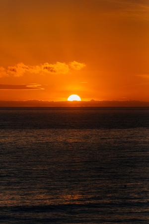 Sunset over the Pacific Ocean at Salt Creek Beach, in Dana Point, California