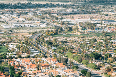 View of Palm Springs, California