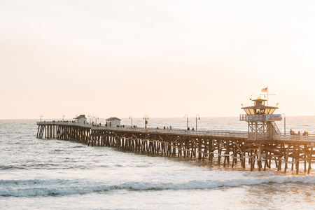 The pier at sunset, in San Clemente, Orange County, California