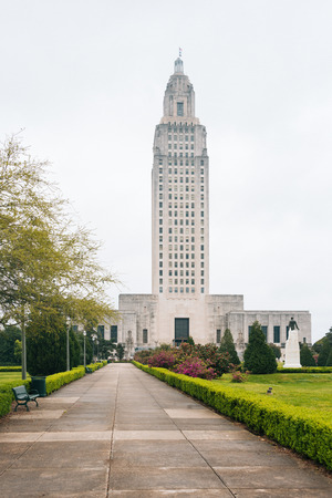 The Louisiana State Capitol, in Baton Rogue, Louisiana