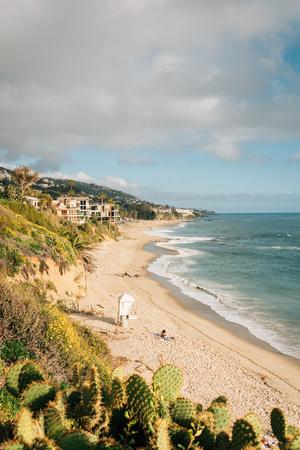 View of the beach at Treasure Island Park, in Laguna Beach, Orange County, California