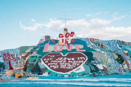 Salvation Mountain, in Slab City, California