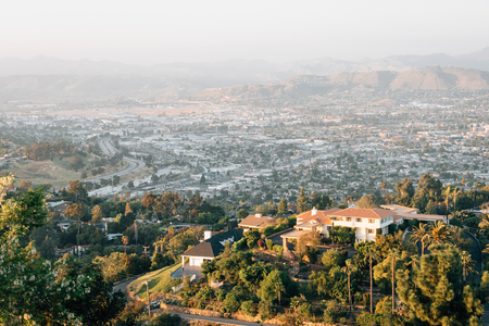 View from Mount Helix, in La Mesa, near San Diego, California
