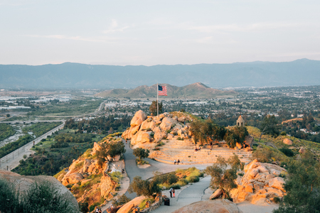 View of the summit of Mount Rubidoux in Riverside, California Stock Photo