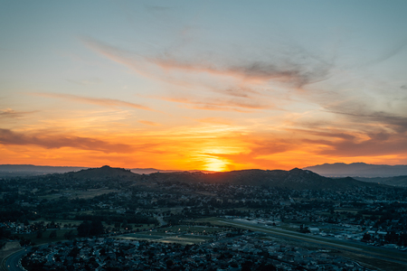 Sunset view from Mount Rubidoux in Riverside, California