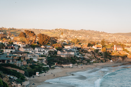 View of Crescent Bay in Laguna Beach, Orange County, California