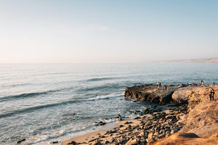 Rocky coast in La Jolla, San Diego, California Banque d'images