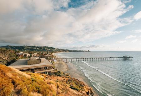 View of Scripps Pier, in La Jolla Shores, San Diego, California