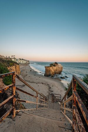 Staircase at El Matador State Beach, in Malibu, California Stock Photo