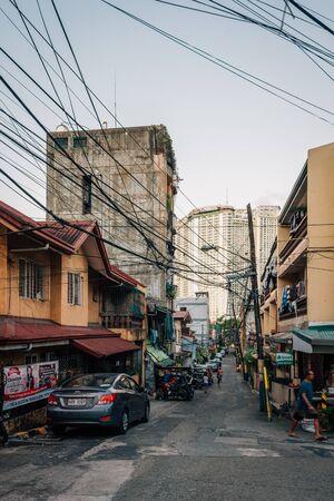 Street scene in Poblacion, Makati, in Manila, The Philippines