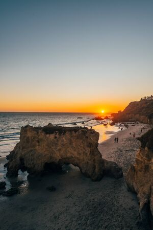 Sunset at El Matador State Beach in Malibu, California
