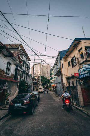 A street in Poblacion, Makati, in Metro Manila, Philippines