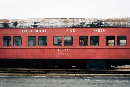 Baltimore & Ohio Railroad Camp Car, in Baltimore, Maryland Stock Photo
