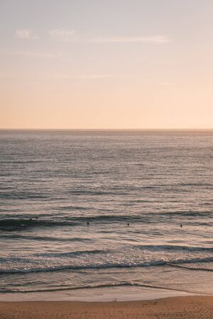 Waves in the Pacific Ocean at sunset, Salt Creek Beach, in Dana Point, California
