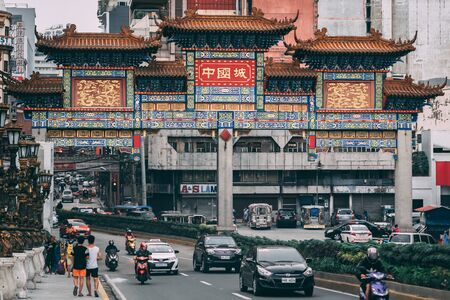 The Chinatown Arch, in Binondo, Manila, The Philippines