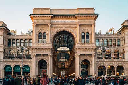 The Galleria Vittorio Emanuele, in Milan, Italy.