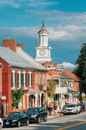 German Street, in downtown Shephardstown, West Virginia