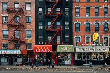 Businesses in Chinatown, in Manhattan, New York City