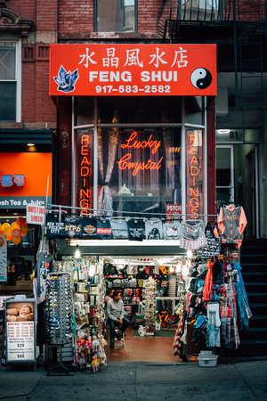 A street scene in Chinatown, Manhattan, New York City 新闻类图片