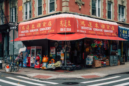 Hester Corner Grocery store, in Chinatown, Manhattan, New York City 新闻类图片