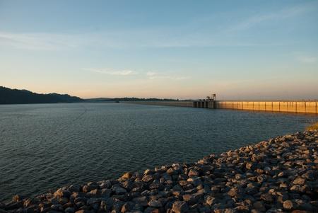 barrage: Barrage in Thailand Stock Photo