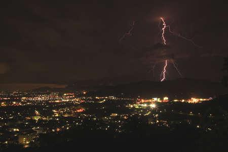 horrizon: lightning bolt at phuket town, south of thailand