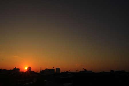horrizon: sunrise at phuket town,south of thailand Stock Photo