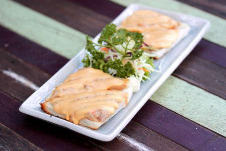 karaj: pork chop sandwich with Mayonnaise