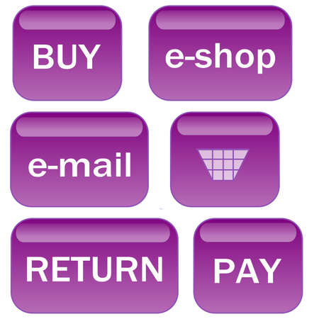 Lavender e-shop web buttons Vector