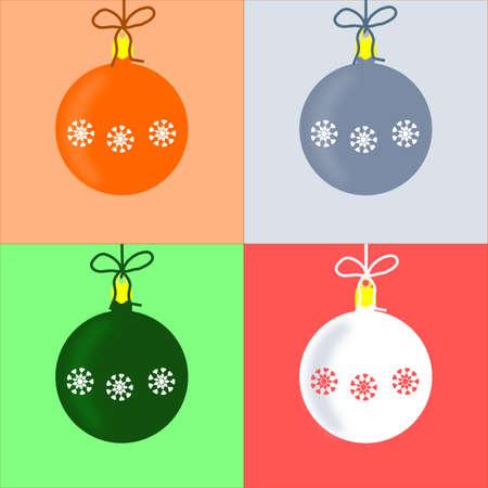 Four Christmas cards Vector