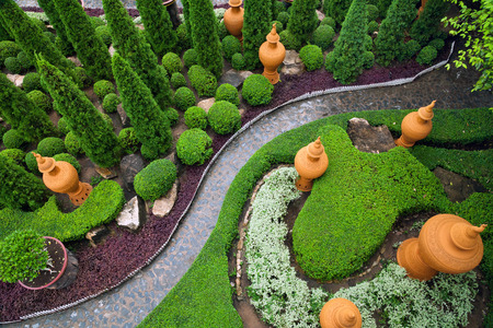 Garden design , patthway in the park.