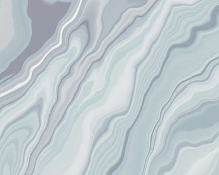 Abstract Liquid smooth Grey blue and white clear color, curve lines marble pattern textures, watercolor decoration fluid flowing acrylic art modern cool background, creative paint brush color