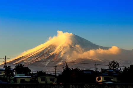 Beautiful landscape Japan lake , Mt photo