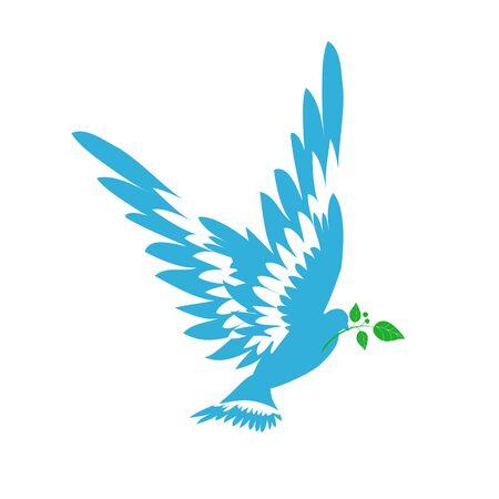 paloma de la paz: silueta del ave