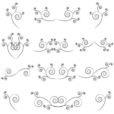 swashes: Set of calligraphic swashes and flourishes